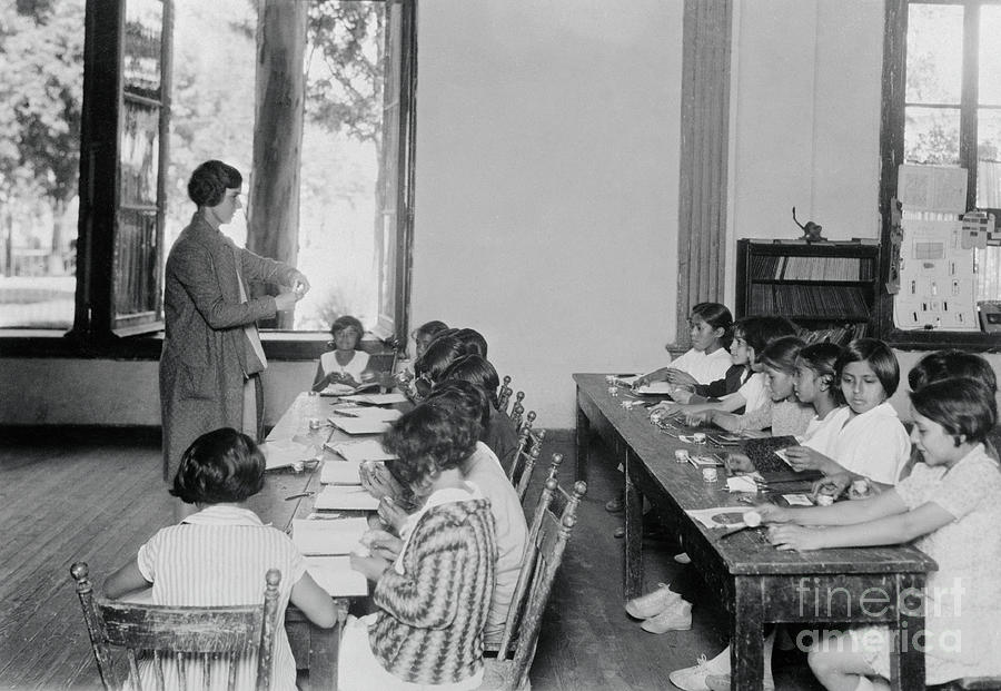 Mexican Children Sitting In Classroom Photograph by Bettmann