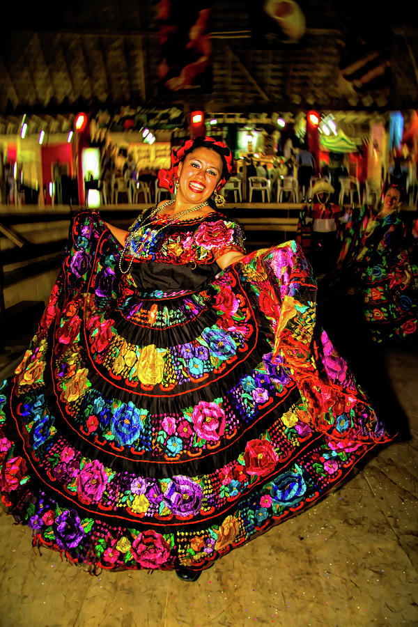 Mexican Dancer in Chiapas by David Smith