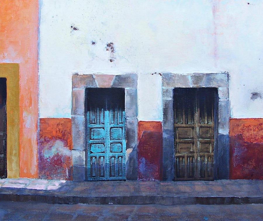 Mexican Doors Painting