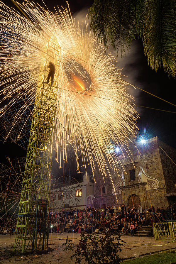 Mexico Photograph - Mexican Fireworks Castle by Dane Strom