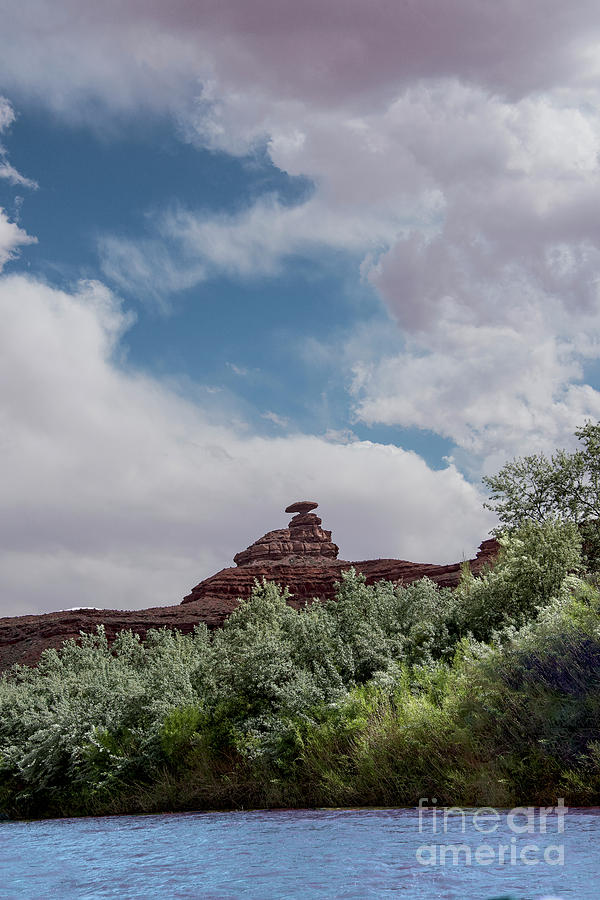Mexican Hat Photograph - Mexican Hat From San Juan by Mae Wertz