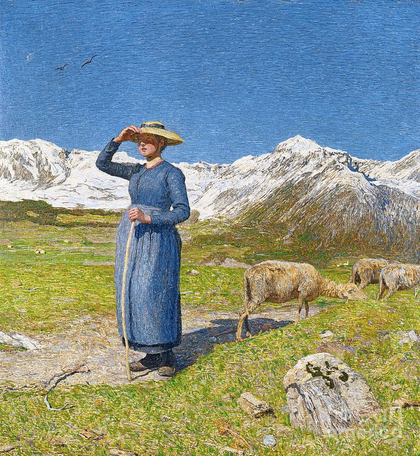 Mezzogiorno Sulle Alpi Noon In The Alps Drawing by Heritage Images