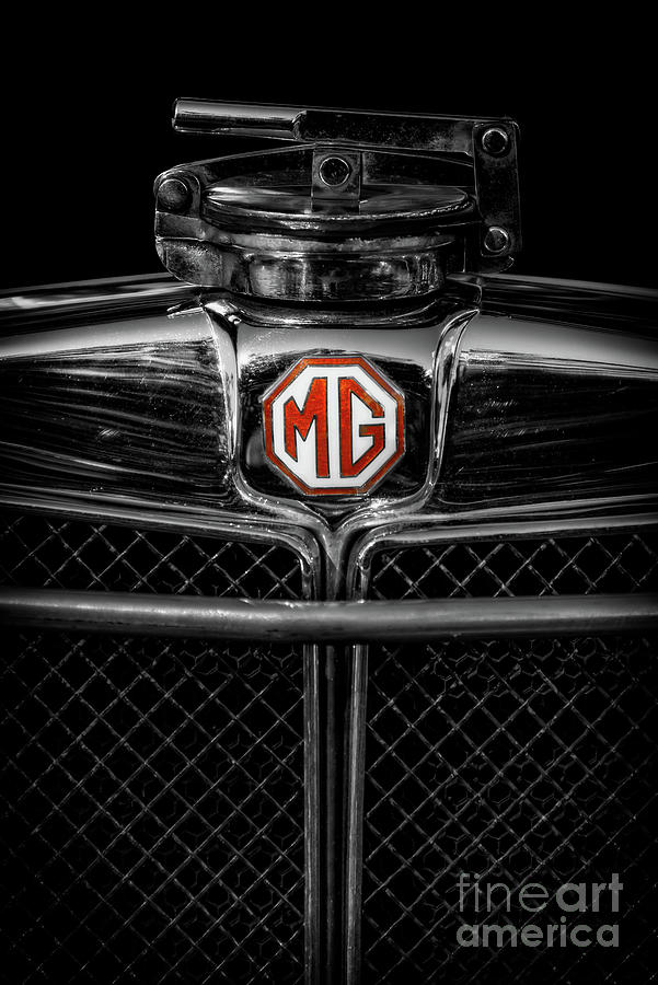 Mg Photograph - Mg Grill Badge by Adrian Evans