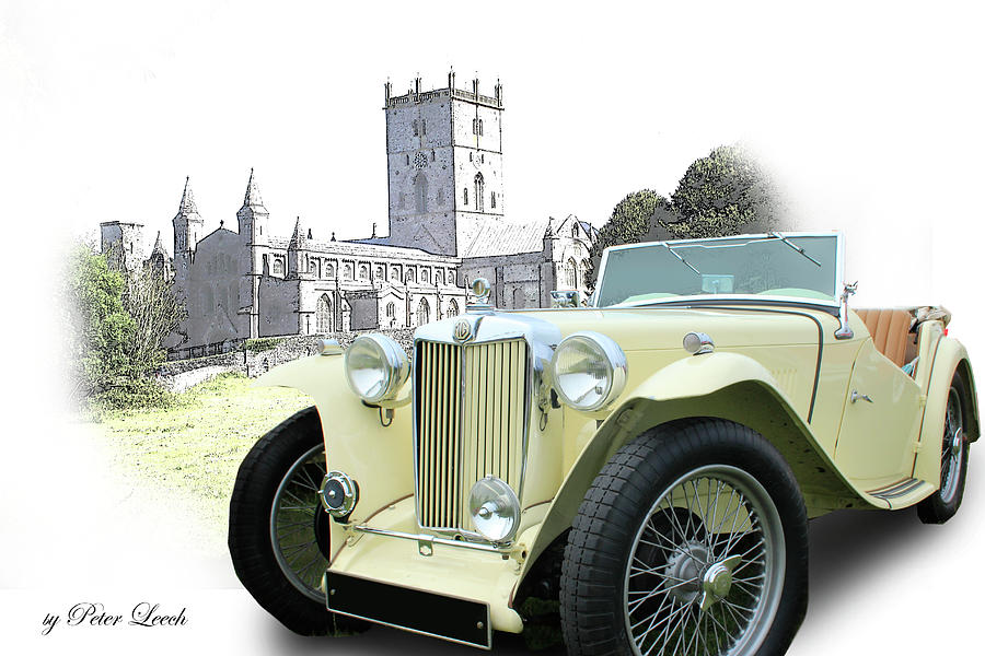 MG TF at St David's Cathedral by Peter Leech