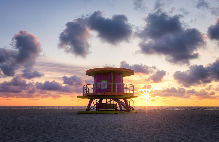 Miami Beach, Florida, Usa Photograph
