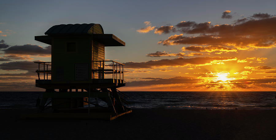 Miami Beach Lifeguard House at Sunrise by Michael Ash
