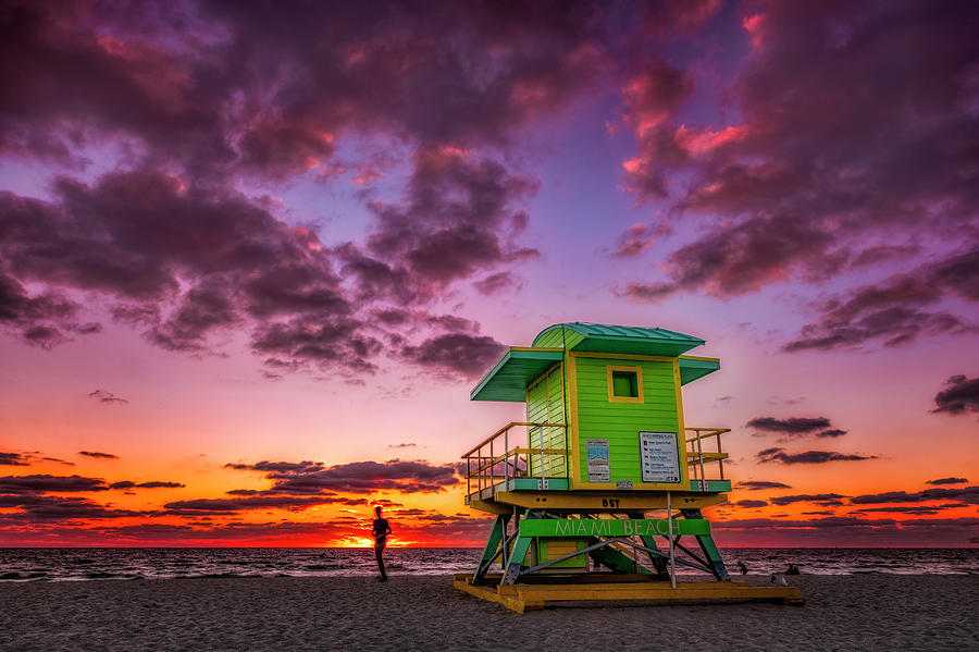 Miami Beach Sunrise by Michael Ash