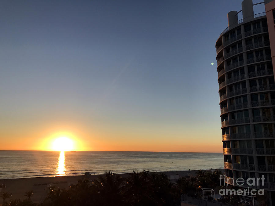 Miami Beach Sunset Photograph by Andrew Dinh