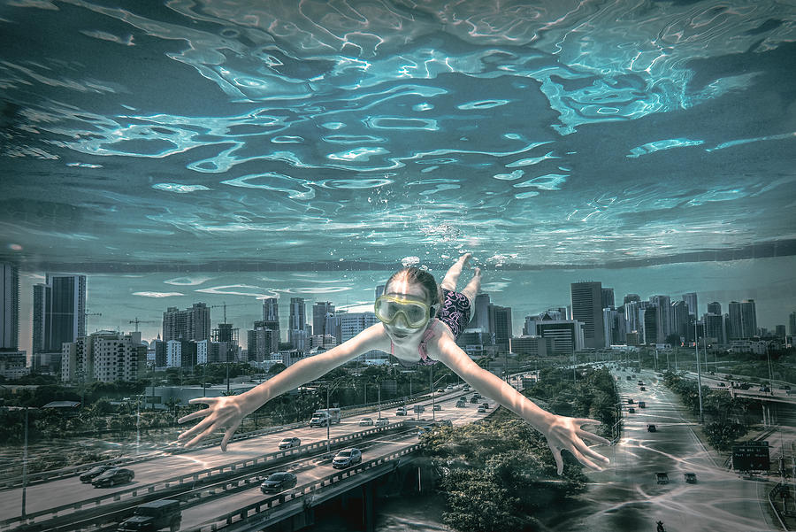Creative Photograph - Miami City Diver by Marcus Hennen