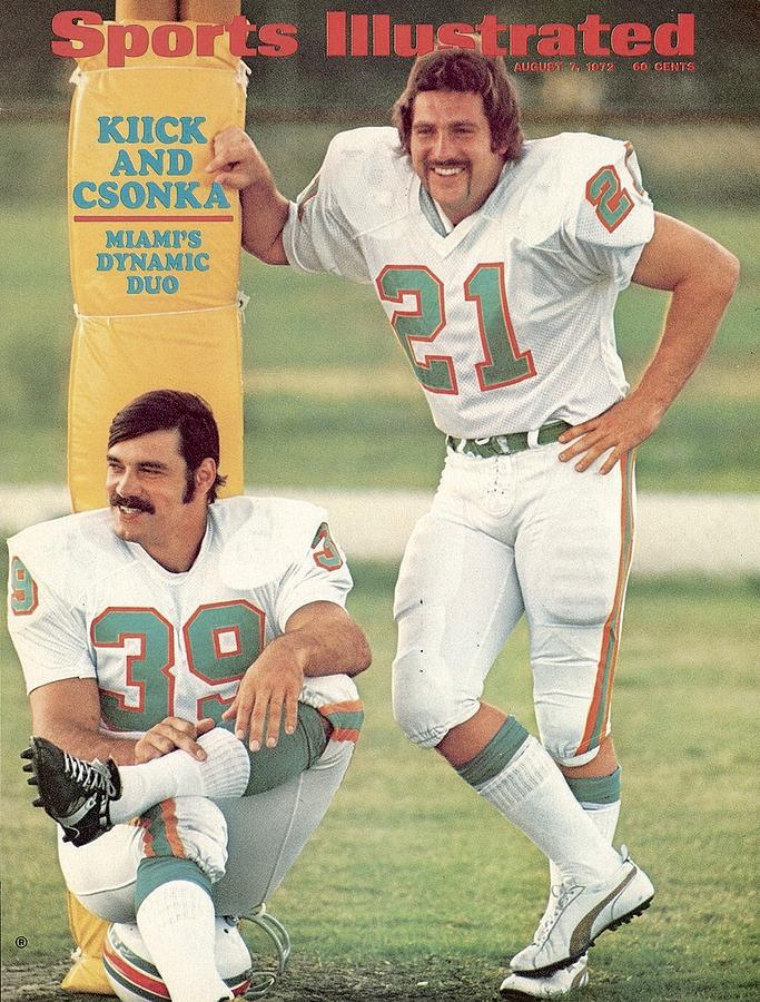 Miami Dolphins Jim Kiick And Larry Csonka Sports Illustrated Cover Photograph by Sports Illustrated