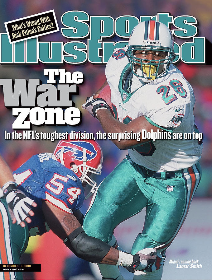Miami Dolphins Lamar Smith... Sports Illustrated Cover Photograph by Sports Illustrated