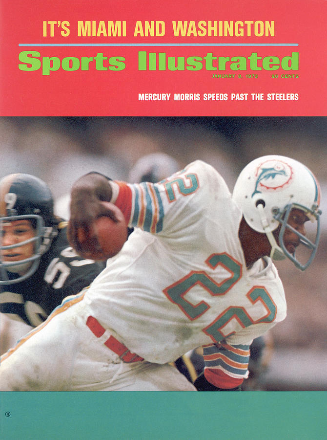 Miami Dolphins Mercury Morris, 1972 Afc Championship Sports Illustrated Cover Photograph by Sports Illustrated