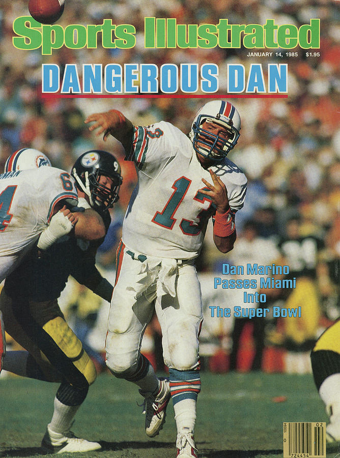 Miami Dolphins Qb Dan Marino, 1985 Afc Championship Sports Illustrated Cover Photograph by Sports Illustrated