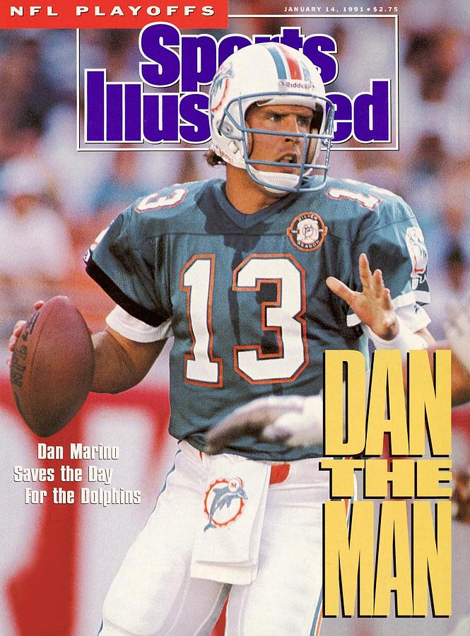 Miami Dolphins Qb Dan Marino, 1991 Afc Wild Card Playoffs Sports Illustrated Cover Photograph by Sports Illustrated