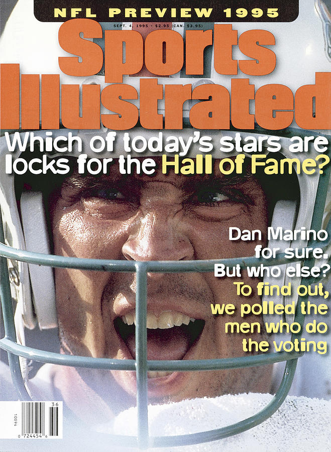 Miami Dolphins Qb Dan Marino, 1995 Nfl Football Preview Sports Illustrated Cover Photograph by Sports Illustrated