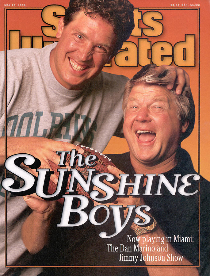 Miami Dolphins Qb Dan Marino And Coach Jimmy Johnson Sports Illustrated Cover Photograph by Sports Illustrated