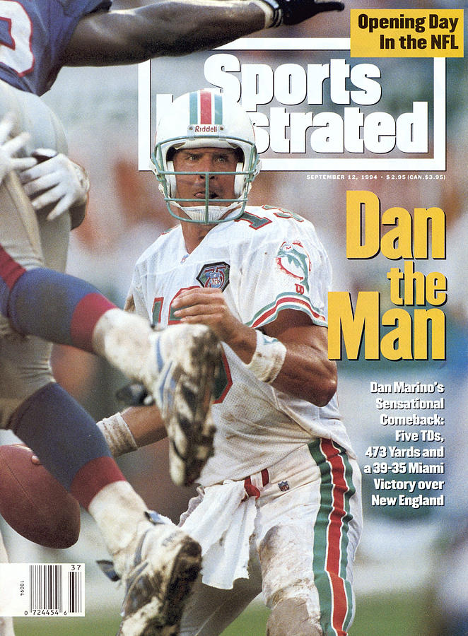 Miami Dolphins Qb Dan Marino... Sports Illustrated Cover Photograph by Sports Illustrated