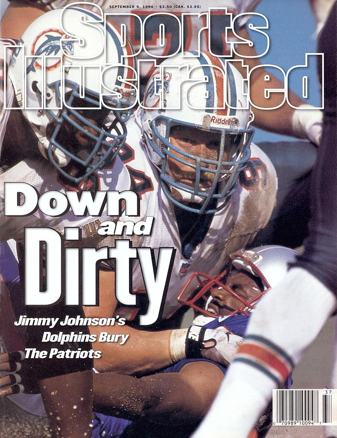 Miami Dolphins Steve Emtman And Tim Bowens Sports Illustrated Cover Photograph by Sports Illustrated