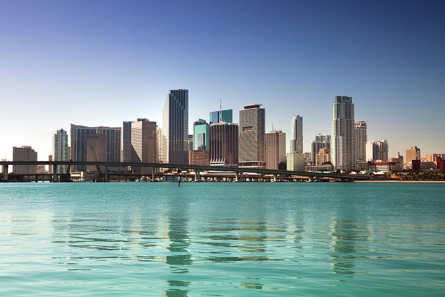 Miami Florida Daytime Skyline Photograph by Pgiam