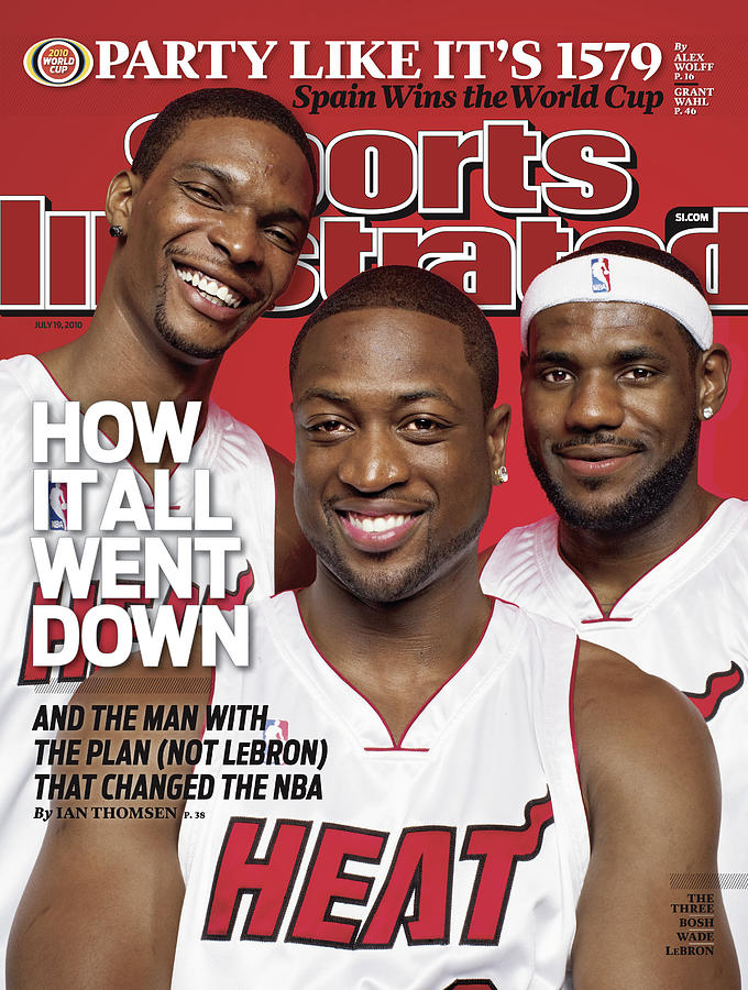 Miami Heat Chris Bosh, Dwyane Wade, And LeBron James Sports Illustrated Cover Photograph by Sports Illustrated