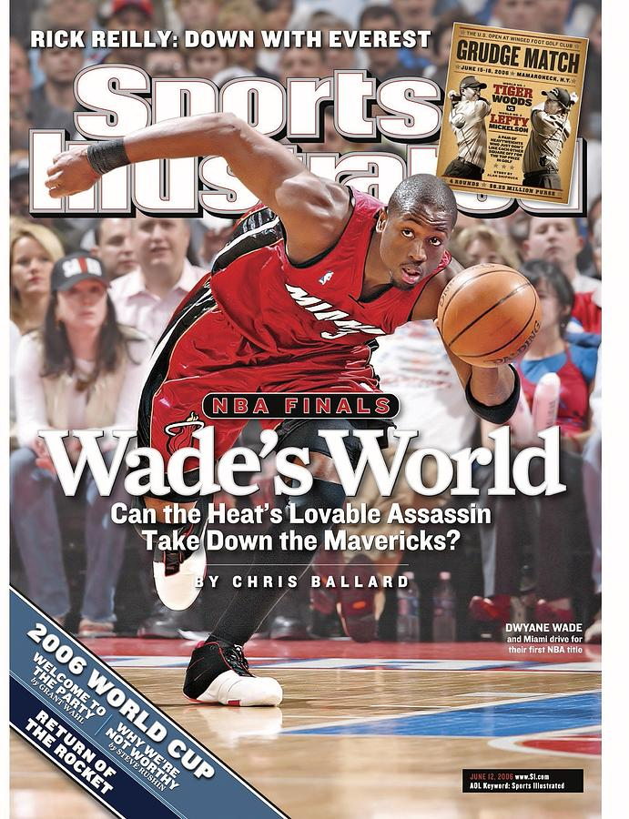 Miami Heat Dwyane Wade, 2006 Nba Eastern Conference Finals Sports Illustrated Cover Photograph by Sports Illustrated