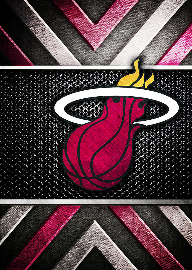 Miami Heat Logo Art Digital Art By William Ng
