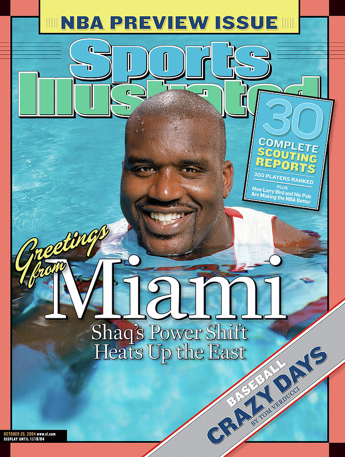 Miami Heat Shaquille Oneal, 2004-05 Nba Basketball Preview Sports Illustrated Cover Photograph by Sports Illustrated