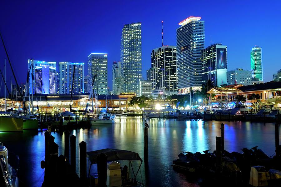 Miami Skyline, Florida, Usa Photograph by Travelpix Ltd