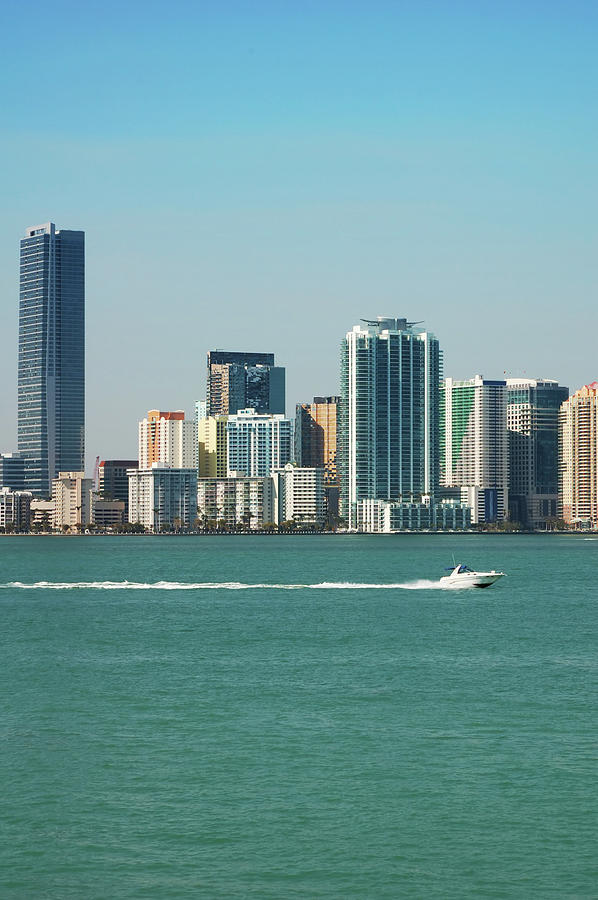 Miami Skyline - Verical Photograph by Thepalmer