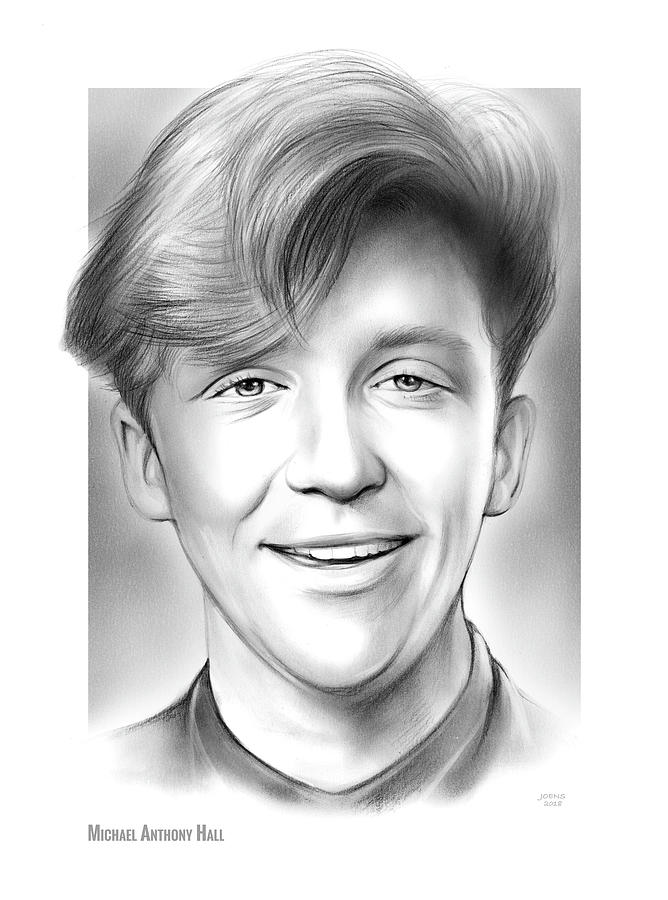 Anthony Michael Hall Drawing - Michael Anthony Hall by Greg Joens