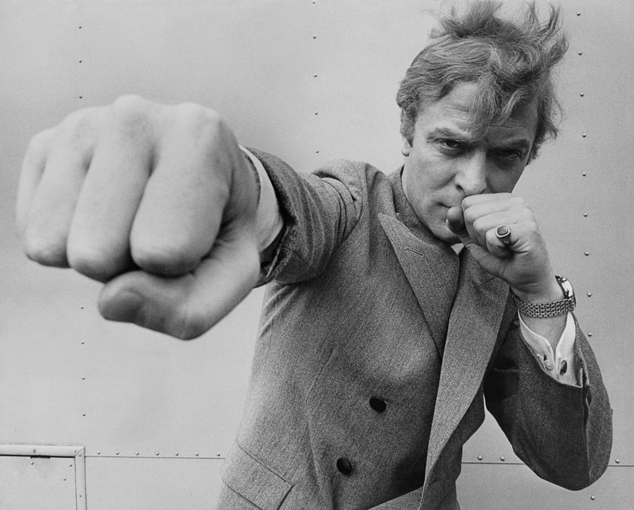 Michael Caine Throwing A Punch Photograph by Stephan C Archetti