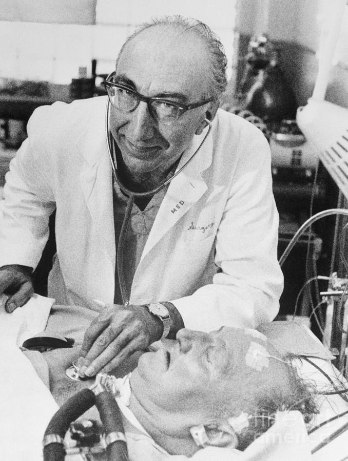 Michael Debakey With Artificial Heart Photograph by Bettmann