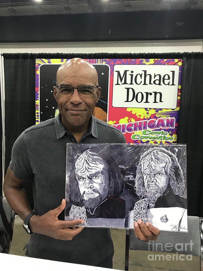 Michael Dorn with Artwork by Bill Richards