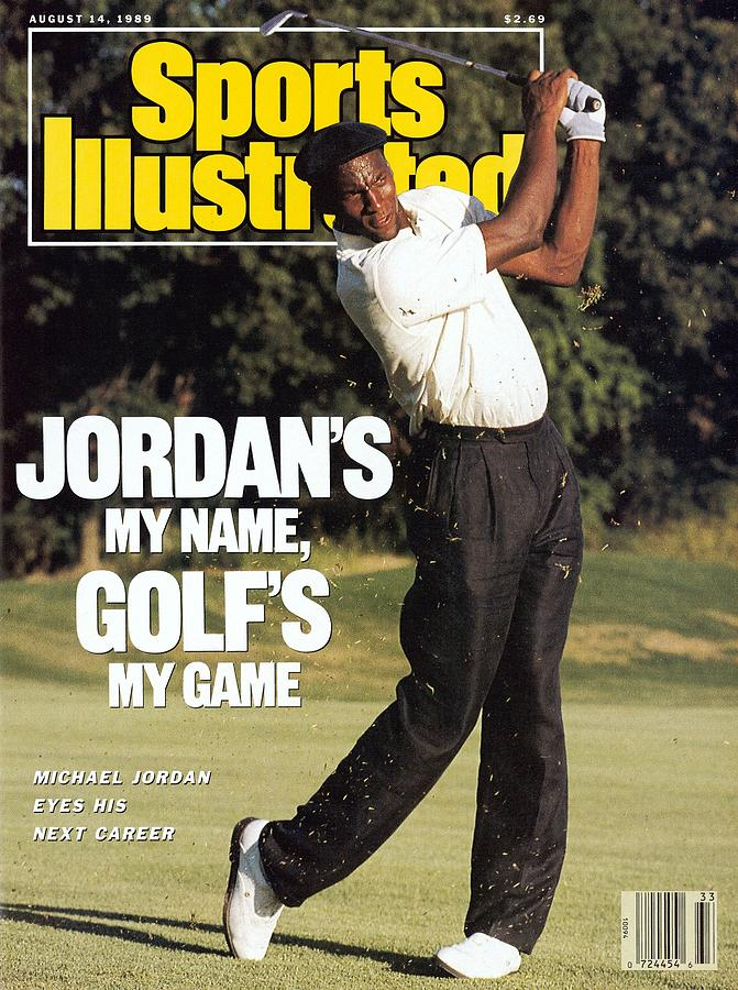 Michael Jordan, 1989 St. Jude Classic Sports Illustrated Cover Photograph by Sports Illustrated