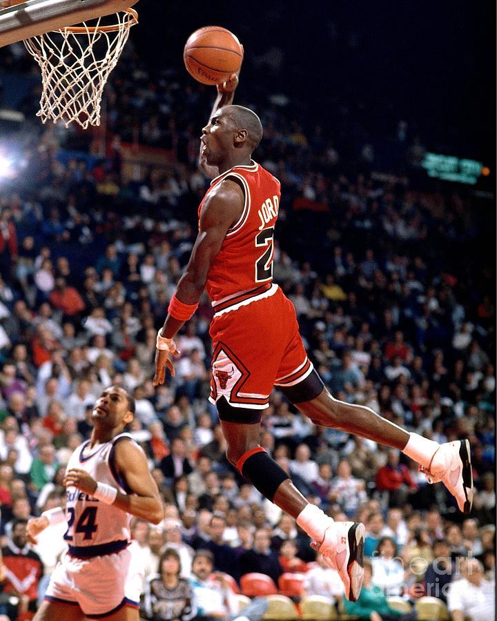 Michael Jordan Action Portrait Photograph by Jerry Wachter