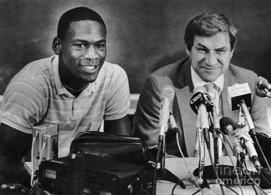 Michael Jordan And Coach Dean Smith Photograph by Bettmann