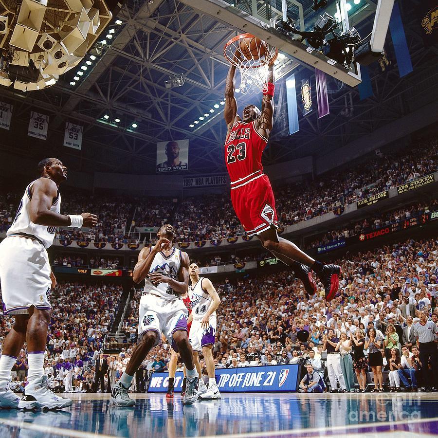 Michael Jordan Attempts A Dunk Photograph by Nathaniel S. Butler