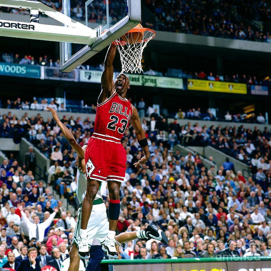 Michael Jordan Dunks The Ball Photograph by Nathaniel S. Butler