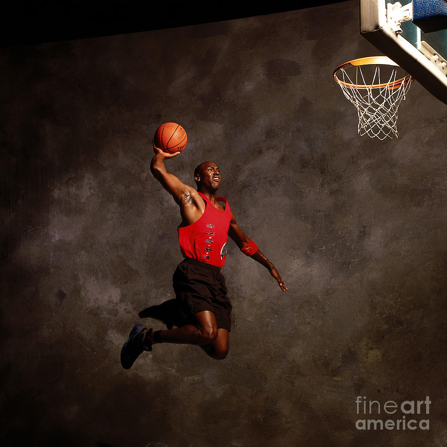 Michael Jordan Mock Action Portrait Photograph by Nba Photos