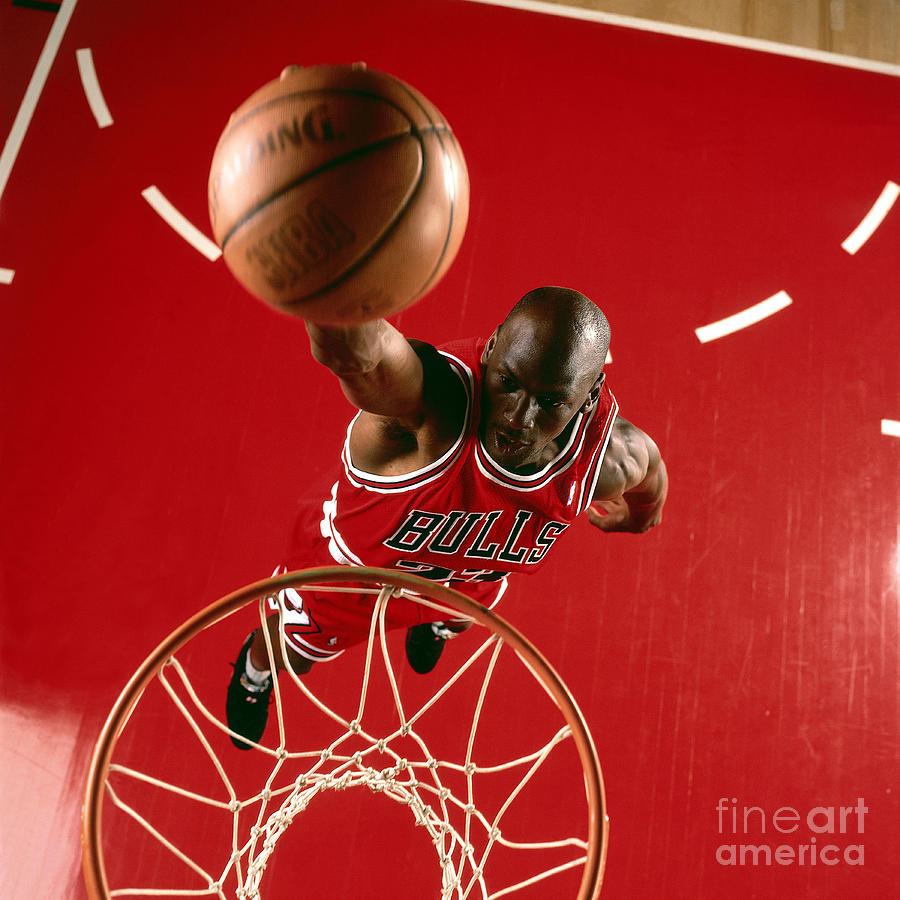 Michael Jordan Slam Dunk Photograph by Nba Photos