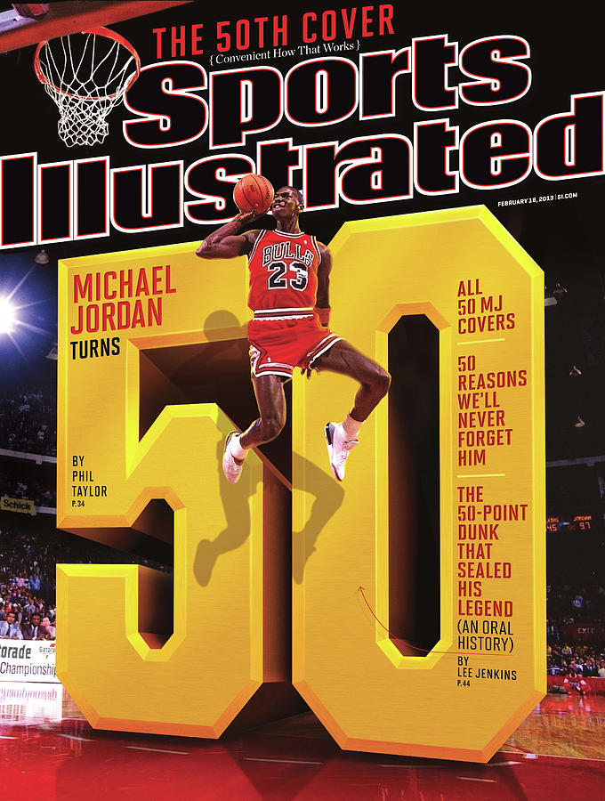 Michael Jordan Turns 50 Sports Illustrated Cover Photograph by Sports Illustrated