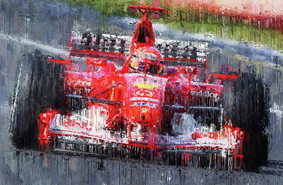 Michael Schumacher, Ferrari - 32 by Andrea Mazzocchetti