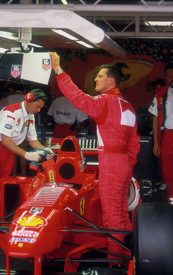 Michael Schumacher With Ferrari Photograph by Heritage Images