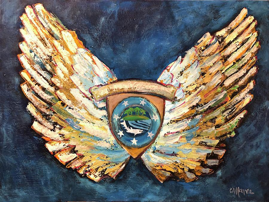 Michael's Wings by Laurie Maves ART