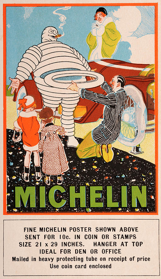 Michelin Tyres Man Poster - Vintage Photograph by Popperfoto