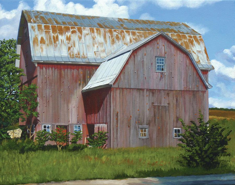Michigan Barn #6 Painting by Michael Ward