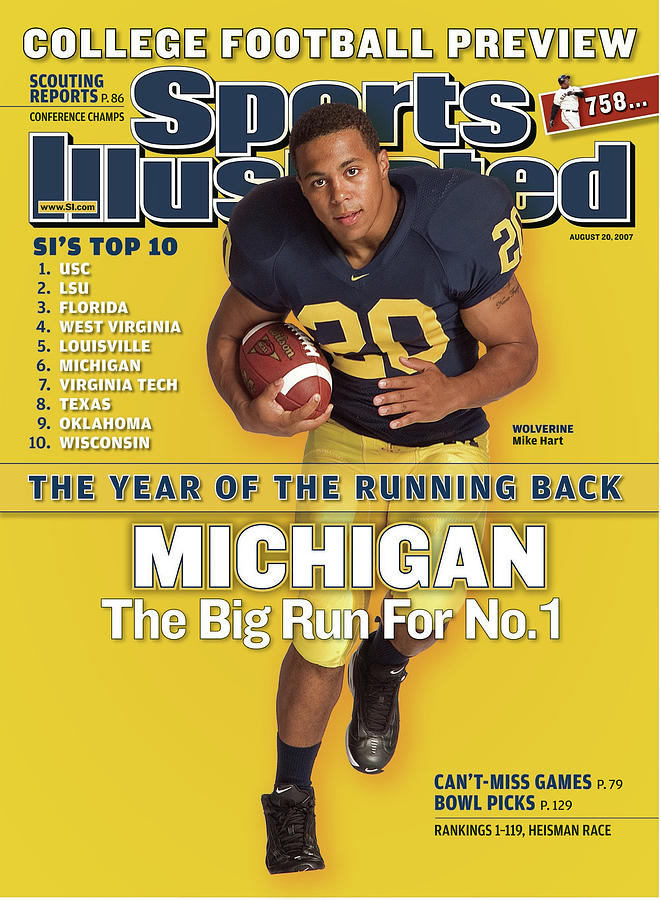 Michigan Mike Hart, 2007 College Football Preview Sports Illustrated Cover Photograph by Sports Illustrated