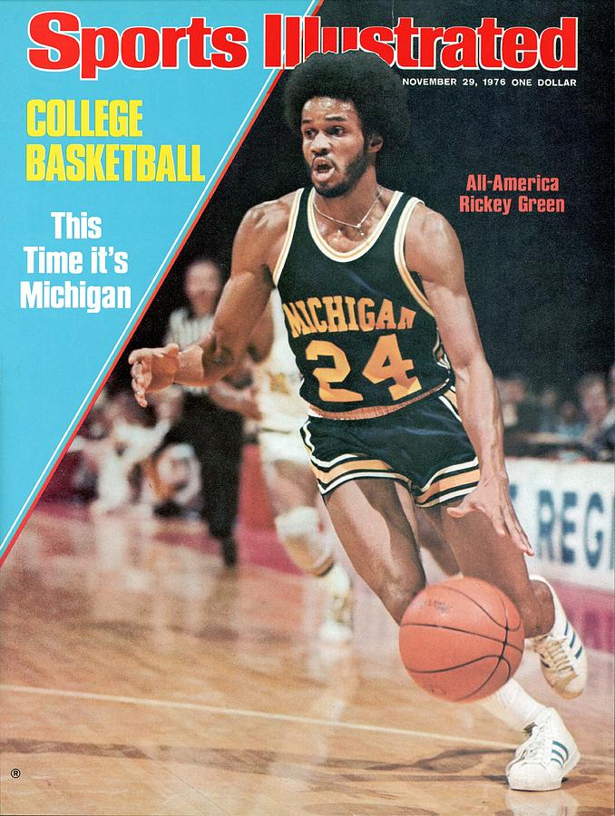Michigan Rickey Green, 1976 Ncaa Midwest Regional Playoffs Sports Illustrated Cover Photograph by Sports Illustrated