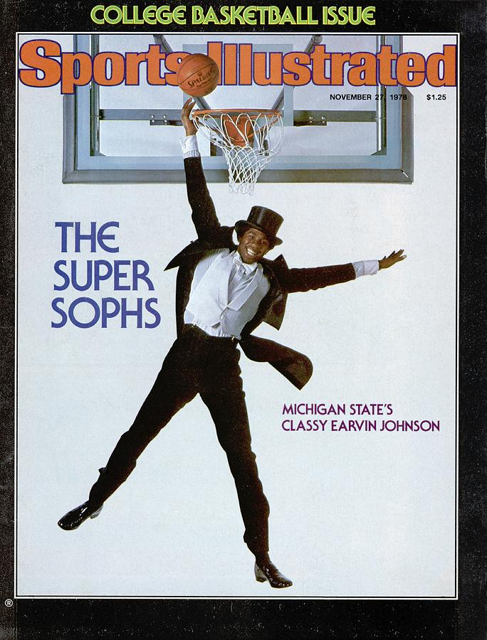 Michigan State Magic Johnson, 1978 College Basketball Sports Illustrated Cover Photograph by Sports Illustrated