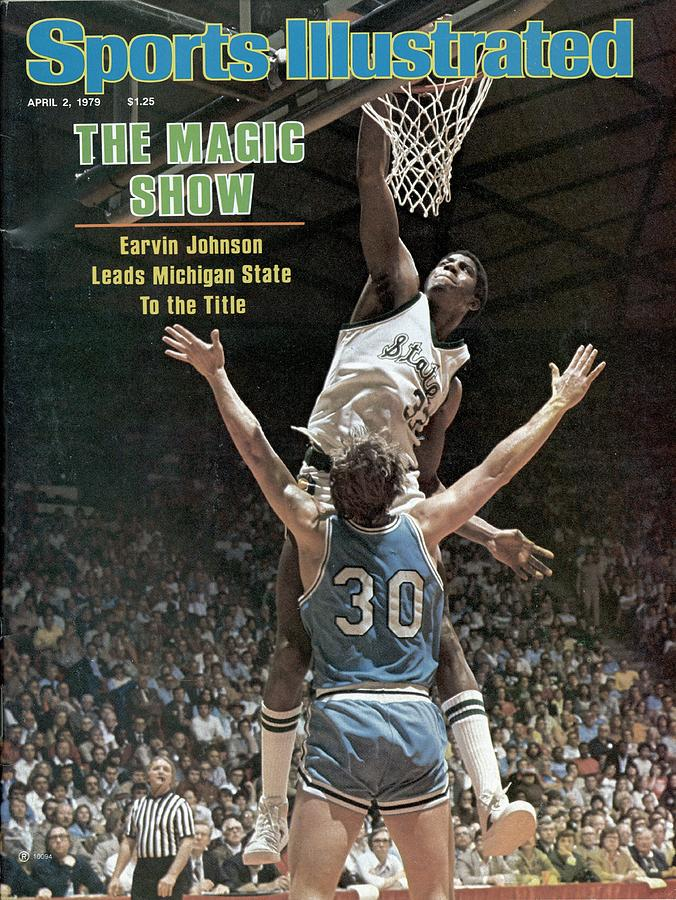 Michigan State Magic Johnson, 1979 Ncaa National Sports Illustrated Cover Photograph by Sports Illustrated